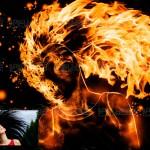 فیلم آموزش ساخت افکت عکس آتشین بی نظیر در فتوشاپ + عکس ها و PSD