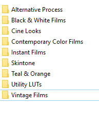 Lutify.me LUTs Color Grading Packages 3D LUTs
