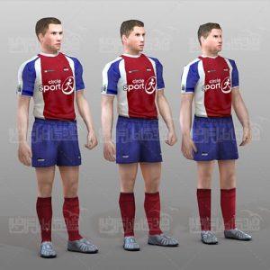 مدل تری دی مکس مرد فوتبالیست