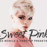 ۵۰ پریست و LUT صورتی شیرین لایت روم  Sweet Pink Lightroom Presets LUTs